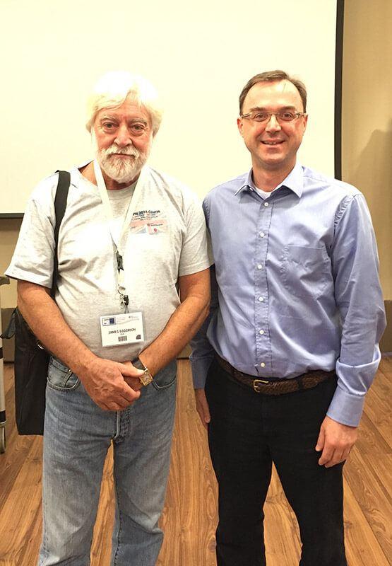 Με τον Prof. James T. Goodrich, Finland, 2016