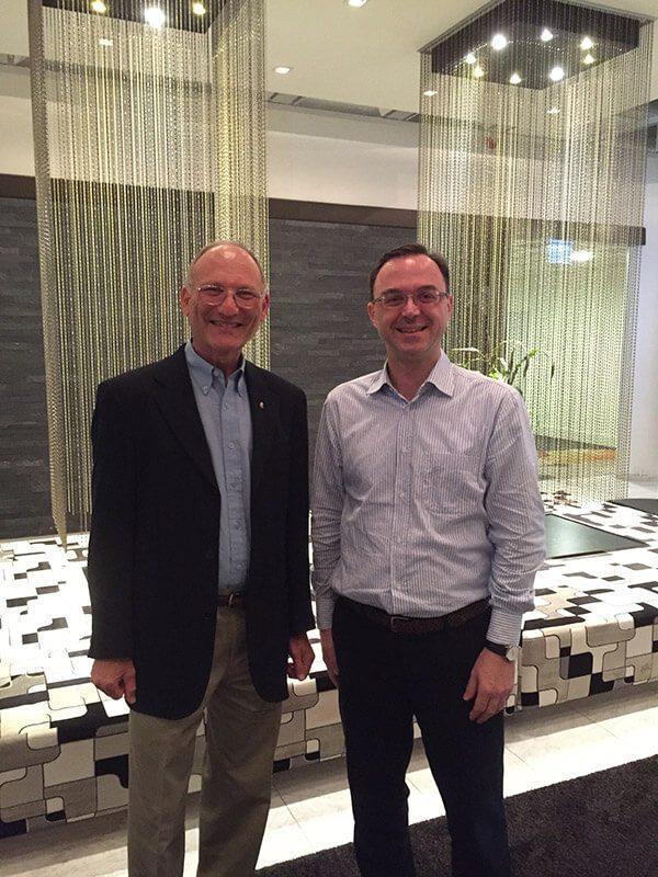 Με τον Prof. Paul Steinbok, Finland, 2016